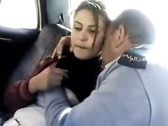 Arab Police Officer Sucks A Girls Tit In The Back Of A Car