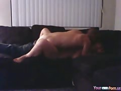 hot naked girls Gets Missionary Fucked On The Sofa And Moans