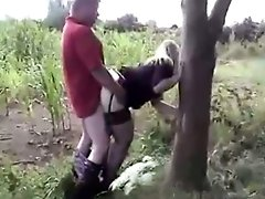 Dogging Milf Partygirl Doggystyle pussy cum Quickie In A Corn Field