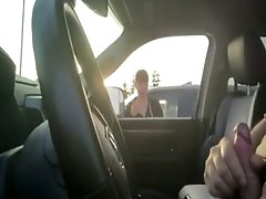 Soccer Mom Watches Me Jerk Off In The Car And Likes It