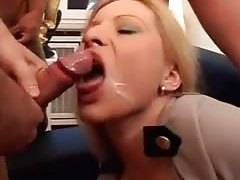 amateur Cum on face vid shows me fuck with two guys