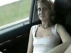 While Her BF Is Driving She Masturbates With A Vibrator