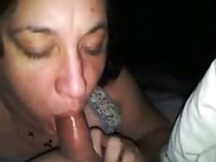 Closeup View Of A old lady sucking dick Woman Sucking On Her chunky Husbands Cock