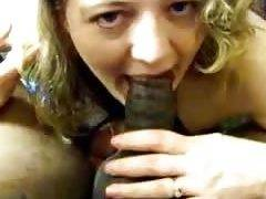 Cheating ex-wife swallowing friends ebony penis