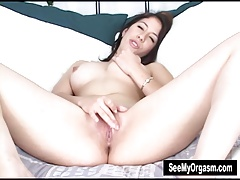 Lusty Latina Abby Masturbating