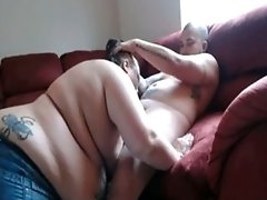 Huge bbw Sucks Cock Gets Eaten Out And Has Missionary Sex