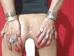 Claudia in butt sex masturbation