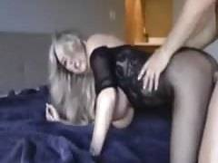 pretty giant tit milf makes a home film
